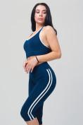 Оптом Спортивный костюм для фитнеса женский темно-синего цвета 212908TS, фото 8