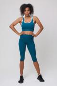 Оптом Спортивный костюм для фитнеса женский бирюзового цвета 212908Br, фото 4