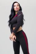 Оптом Спортивный костюм для фитнеса женский черного цвета 212912Ch, фото 10