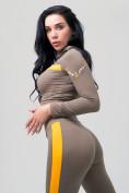Оптом Спортивный костюм для фитнеса женский цвета хаки 212912Kh, фото 14