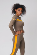 Оптом Спортивный костюм для фитнеса женский цвета хаки 212912Kh, фото 10