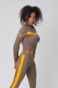Оптом Спортивный костюм для фитнеса женский цвета хаки 212912Kh, фото 11