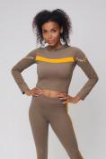 Оптом Спортивный костюм для фитнеса женский цвета хаки 212912Kh, фото 12
