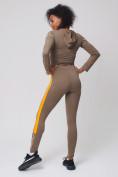 Оптом Спортивный костюм для фитнеса женский цвета хаки 212912Kh, фото 3