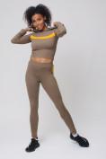 Оптом Спортивный костюм для фитнеса женский цвета хаки 212912Kh, фото 4