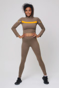 Оптом Спортивный костюм для фитнеса женский цвета хаки 212912Kh, фото 6