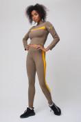 Оптом Спортивный костюм для фитнеса женский цвета хаки 212912Kh, фото 7