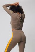 Оптом Спортивный костюм для фитнеса женский цвета хаки 212912Kh, фото 9