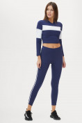 Оптом Костюм для фитнеса женский темно-синего цвета 212914TS, фото 2