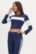 Оптом Костюм для фитнеса женский темно-синего цвета 212914TS, фото 7