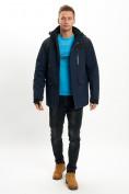 Оптом Молодежная зимняя куртка мужская темно-синего цвета 2155TS в Екатеринбурге, фото 5