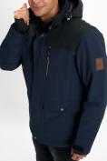 Оптом Молодежная зимняя куртка мужская темно-синего цвета 2155TS в Екатеринбурге, фото 11