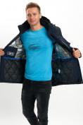 Оптом Молодежная зимняя куртка мужская темно-синего цвета 2155TS в Екатеринбурге, фото 14