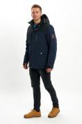 Оптом Молодежная зимняя куртка мужская темно-синего цвета 2155TS в Екатеринбурге, фото 3