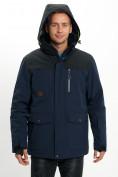 Оптом Молодежная зимняя куртка мужская темно-синего цвета 2155TS в Екатеринбурге, фото 7
