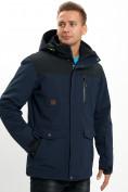 Оптом Молодежная зимняя куртка мужская темно-синего цвета 2155TS в Екатеринбурге, фото 9