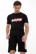 Оптом Мужские футболки с принтом черного цвета 22013Ch в Екатеринбурге, фото 4