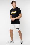 Оптом Мужские футболки с принтом желтого цвета 22013J в Екатеринбурге, фото 3