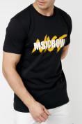 Оптом Мужские футболки с принтом желтого цвета 22013J в Екатеринбурге, фото 5