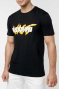 Оптом Мужские футболки с принтом желтого цвета 22013J в Екатеринбурге