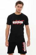 Оптом Мужские футболки с принтом черного цвета 22013Ch в Екатеринбурге, фото 5
