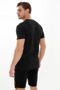 Оптом Мужские футболки с принтом черного цвета 22013Ch в Екатеринбурге, фото 3