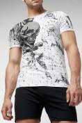 Оптом Подростковая футболка белого цвета 220035Bl в Екатеринбурге, фото 3