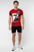 Оптом Подростковая футболка красного цвета 220036Kr в Екатеринбурге, фото 5
