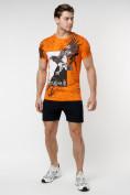 Оптом Подростковая футболка оранжевого цвета 220036O в Екатеринбурге, фото 3