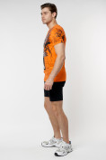 Оптом Подростковая футболка оранжевого цвета 220036O в Екатеринбурге, фото 5