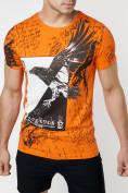 Оптом Подростковая футболка оранжевого цвета 220036O в Екатеринбурге