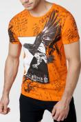 Оптом Подростковая футболка оранжевого цвета 220036O в Екатеринбурге, фото 2