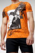 Оптом Подростковая футболка оранжевого цвета 220036O в Екатеринбурге, фото 7