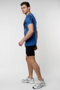 Оптом Подростковая футболка синего цвета 220036S в Екатеринбурге, фото 5