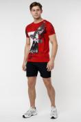 Оптом Подростковая футболка красного цвета 220036Kr в Екатеринбурге, фото 4