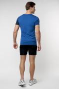 Оптом Подростковая футболка синего цвета 220036S в Екатеринбурге, фото 6