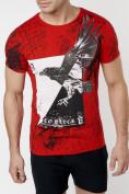 Оптом Подростковая футболка красного цвета 220036Kr в Екатеринбурге