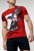 Оптом Подростковая футболка красного цвета 220036Kr в Екатеринбурге, фото 3