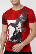 Оптом Подростковая футболка красного цвета 220036Kr в Екатеринбурге, фото 8