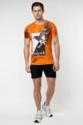Оптом Подростковая футболка оранжевого цвета 220036O в Екатеринбурге, фото 4