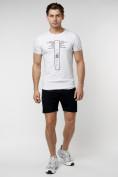 Оптом Подростковая футболка белого цвета 220072Bl в Екатеринбурге, фото 4