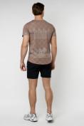 Оптом Подростковая футболка коричневого цвета 220072K в Екатеринбурге, фото 5
