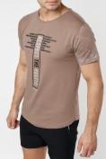 Оптом Подростковая футболка коричневого цвета 220072K в Екатеринбурге, фото 7