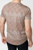 Оптом Подростковая футболка коричневого цвета 220072K в Екатеринбурге, фото 8