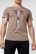 Оптом Подростковая футболка коричневого цвета 220072K в Екатеринбурге, фото 9