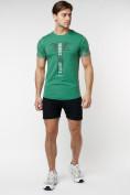 Оптом Подростковая футболка зеленого цвета 220072Z в Екатеринбурге, фото 5