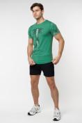 Оптом Подростковая футболка зеленого цвета 220072Z в Екатеринбурге, фото 4