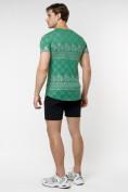 Оптом Подростковая футболка зеленого цвета 220072Z в Екатеринбурге, фото 6