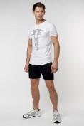 Оптом Подростковая футболка белого цвета 220072Bl в Екатеринбурге, фото 6