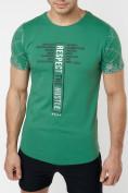 Оптом Подростковая футболка зеленого цвета 220072Z в Екатеринбурге, фото 2